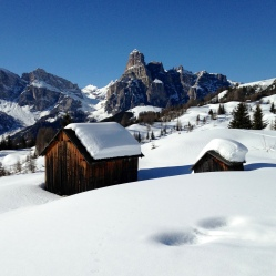 Winter landscape, Alta Badia