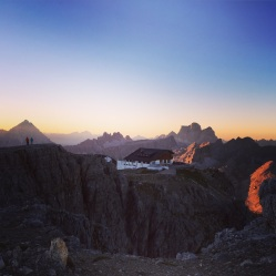 Our favourite spot for the sunrise in the Dolomites, Lagazuoi.